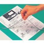透明マット 非転写 ダブルタイプ 軟質ビニール 下敷付 390×550 1枚 エコール EC-HW-M