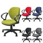 オフィスチェア 事務椅子 デスクチェア 肘付き ワークスチェア 幅590×奥行590×高さ770~850mm