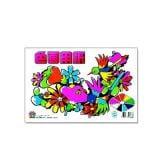 色画用紙 B5サイズ セット色内容(青・ピンク・黄色・オレンジ・水色・黄緑・赤・黒・白) 1冊28枚 サンスター文具 EC-CN-0255000