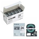 テプラ PROテープカートリッジ エコパック お徳用 ラベル:白 文字色:黒 幅24mm ラベル8m巻 1パック5個入 キングジム EC-SS24K-5P