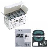 テプラ PROテープカートリッジ エコパック お徳用 ラベル:白 文字色:黒 幅9mm ラベル8m巻 1パック5個入 キングジム EC-SS9K-5P