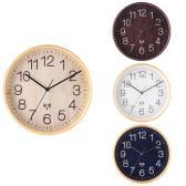 電波掛時計 プライウッド 時計 タイムキーピング 天然木合板 オフィス シンプル 直径28cm 単三電池×1(別売) 幅280×奥行45×高さ280mm
