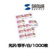 インクジェット 名刺カード 光沢 ミシン目 A4 10面 100シート入