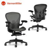 【次回入荷未定】アーロンチェアリマスタード (Aeron Chair Remastered) Aサイズ フルアジャスタブルアーム グラファイトフレーム グラファイトベース ポスチャーフィットSL BBキャスター HermanMiller ハーマンミラー | AERAER1A13DW ALP G1 G1 G1 BB BK 23103