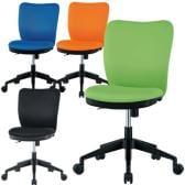 【ブラック:11月下旬入荷予定】オフィスチェア 事務椅子 肘なし 【ブルー・ライム・オレンジ・ブラック】