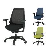 ITOKI(イトーキ) ノナチェア メッシュチェア オフィスチェア 事務椅子 アジャスタブル肘 ハンガーなし ブラック・ネイビーブルー・モスグリーン    KZ-337JB