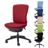 オフィスチェア デスクチェア 事務椅子 バーサル Versal 布張り ミドルバック ブラックシェル 肘なし LI-No2515F
