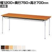 会議用テーブル 棚付 共巻 幅1200×奥行750mm CK-1275TM