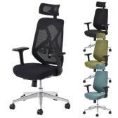 オフィスチェア YS-1 事務椅子 ヘッドレスト付き 肘付き 可動肘 メッシュチェア/布張りチェア 幅690×奥行720×高さ1090~1220mm