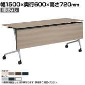 81F5AD | マルカ サイドフォールドテーブル 樹脂幕板付き 幅1500×奥行600×高さ720mm (オカムラ)