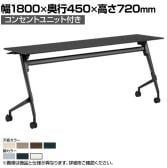 81F5EX | マルカ サイドフォールドテーブル コンセントユニット付き 幅1800×奥行450×高さ720mm (オカムラ)
