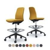 CD13JR   ライブス エントリーチェア Lives Entry Chair オフィスチェア 椅子  肘なし ハイチェア ブラックボディ インターロック (オカムラ)