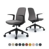 CD23MR | ライブス エントリーチェア Lives Entry Chair オフィスチェア 椅子  固定肘 5本脚 ブラックボディ インターロック (オカムラ)
