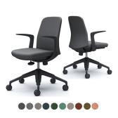 CD23MR | ライブス エントリーチェア Lives Entry Chair オフィスチェア 椅子  固定肘 5本脚 ブラックボディ ツイル (オカムラ)