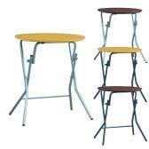 スタンドタッチテーブル 丸型 折りたたみテーブル 完成品 日本製 幅635×奥行600×高さ700mm