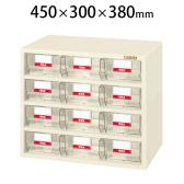 サカエ フレシスラックケース パーツケース 小物管理棚 部品箱 FCR-4BT 幅450×奥行300×高さ380mm