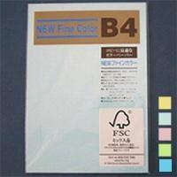 ニューファインカラー PPC用紙 コピー用紙カラー B4 1冊100枚入 吉川紙商事/EC-B4-100