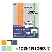 テージー カラーバーファイル A4 10袋セット(1袋10冊入り)