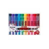 10色セット 詰め替え式 水性マーカー マジック プロッキー 太字 6.0mm / 細字 1.2~1.8mm 各色...