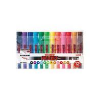 12色セット 詰め替え式 水性マーカー マジック プロッキー 太字 6.0mm / 細字 1.2~1.8mm 各色...