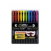 10色セット 水性 蛍光ペン 蛍コート 太字 3.8mm / 細字 0.8mm 各色1本 トンボ鉛筆 EC-WA-...
