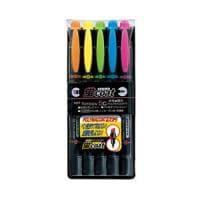 5色セット 水性 蛍光ペン 蛍コート 太字 3.8mm / 細字 0.8mm 各色1本 トンボ鉛筆 EC-WA-T...