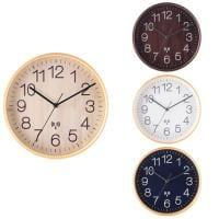 電波掛時計 プライウッド 時計 タイムキーピング 天然木合板 オフィス シンプル 直径28cm 単三電池×1(別売...