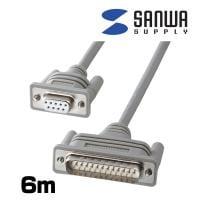 RS-232Cケーブル D-sub9pin-D-sub25pin DOS/V モデム・TA 6m