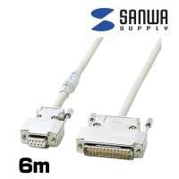 RS-232Cケーブル DOS/V モデム・TA フェライトコア付 6m