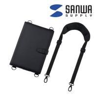 ショルダーベルト付き11.6型タブレットPCケース ブラック