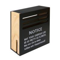 NOTICE(ノーティス) 木目調モデム収納 OA収納ボックス 幅140×奥行330×高さ360mm