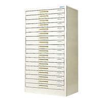 スチール製 ペーパーケース 書類整理ケース B4 18トレー