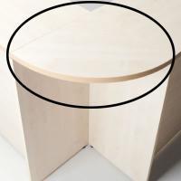 [オプション]fantoni ハイカウンター用連結天板90度型 幅450×奥行450×高さ30mm 棚板付き ファ...