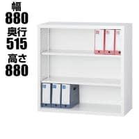 スチール書庫 TSシリーズ オープン書庫(深型) 引違い書庫深型 ホワイトグレー 幅880×奥行515×高さ880...
