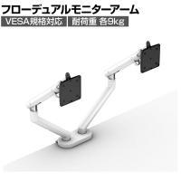 Flo Monitor Arm フローデュアルモニターアーム ホワイト HermanMiller ハーマンミラー
