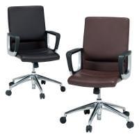 マネージメントレザーチェア 社長椅子 固定肘 幅600×奥行675×高さ930~1020 座面高さ400~490mm