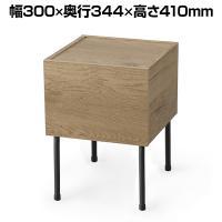 アイアンウッドサイドテーブル 小物収納 引出付 シンプル 幅300×奥行344×高さ410mm IWST-300 ...