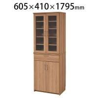 北欧キッチンシリーズ Keittio キッチン収納 食器棚 幅605×奥行410×高さ1795mm JKP-FAP...