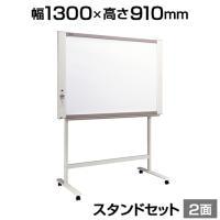 プラス ネットワークボード 電子黒板 コピーボード ホワイトボード スタンドセット ボード2面/N-21S-ST