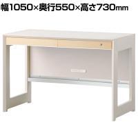オフィスデスク WISE 105デスク テレワーク 幅1050×奥行550×高さ730mm KWD-232MW