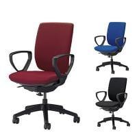 オフィスチェア デスクチェア 事務椅子 エルビス ハイバック サークルアームタイプ 布張り