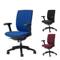 オフィスチェア デスクチェア 事務椅子 エルビス ハイバック フレキシブルアームタイプ 布張り