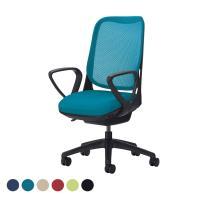 オフィチェア 事務椅子 ライド No.3566F-K サークルアーム ブラックフレーム ブラック脚