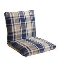 座椅子 MASALA マサラ インド綿 チェック柄 フロアチェア 幅500×奥行600~970×高さ110~500mm
