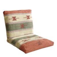座椅子 MASALA マサラ インド綿 キリム柄 フロアチェア 幅500×奥行600~970×高さ110~500mm