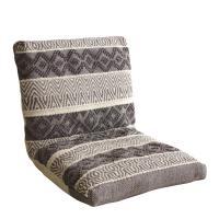 座椅子 MASALA マサラ インド綿 トライバル柄 フロアチェア 幅500×奥行600~970×高さ110~500mm