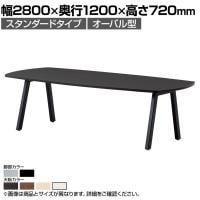 大型テーブル 会議テーブル オーバル型 スタンダードタイプ 幅2800×奥行1200×高さ720mm BL-2812V
