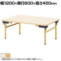 児童・塾・学校向け 折りたたみテーブル 省スペース 薄型 ロータイプ 幅1200×奥行600×高さ450mm