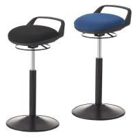 丸椅子 ハイスツール カウンターチェア スツール 取っ手付き 高さ調節機能付き 高さ635~890mm【ブラック・ネイビー】