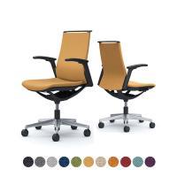 オカムラ オフィスチェア モード 5本脚 クッションタイプ ミドルバック アジャストアーム(可動肘) 樹脂ブラック...